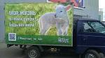 Вега́нская соцреклама  «Животные – не еда!» ко Дню Вега́на в России