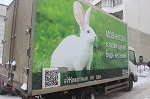 Веганская соцреклама на грузовиках: ВИДЕО