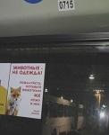 """Впервые социальная антимеховая реклама """"Животные - не одежда!"""" в  автобусах Череповца"""