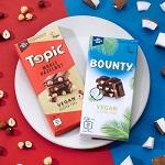 >Кампания Mars представила в Великобритании веганскую версию шоколадных батончиков Topic и Bounty
