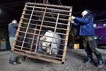 Циркачи привязали медведя к забору поликлиники для рекламы цирка